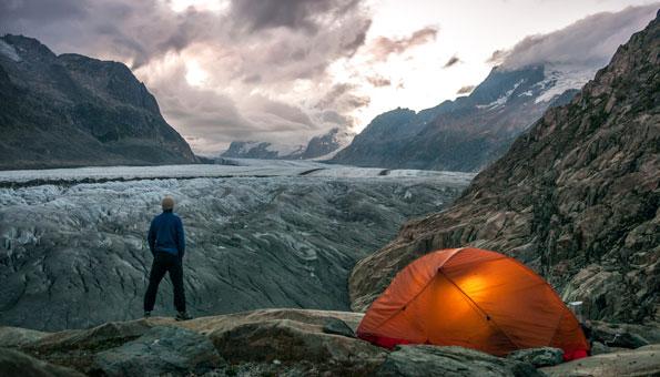 Aletschgletscher als Symbol für den Klimawandel und Klimaschutz