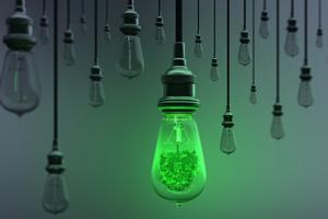 Glühbirnen als Symbol für graue Energie