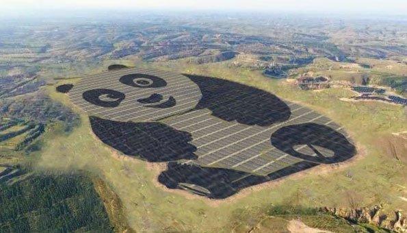 Photovoltaikanlage in Form eines Pandas soll Jugend begeistern
