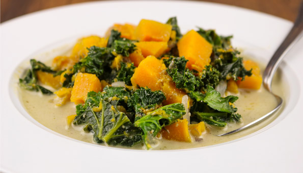Federkohl-Rezepte: Federkohl-Suppe mit Kürbis