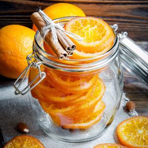 Kandierte Orangen als Geschenk aus der Küche