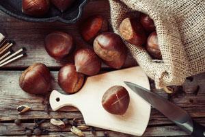 Marroni im Backofen rösten und frische Maroni aus dem Ofen knabbern