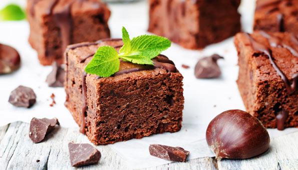 Marronibrownies Rezept mit Schokolade
