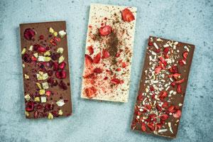 Schokolade selber machen: Einfache aber leckere Rezepte. Schokoladenformen zum Giessen.