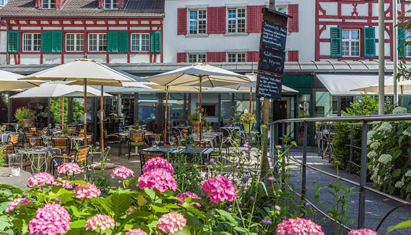 Vegan oder vegetarisch essen in Luzern im Hofgarten mit schönem Ambiente