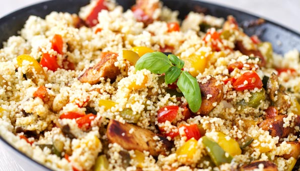 Couscous ist gesund und schnell gemacht.