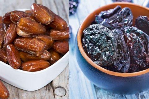 Gesunde Lebensmittel: Dateln vs. Pflaumen