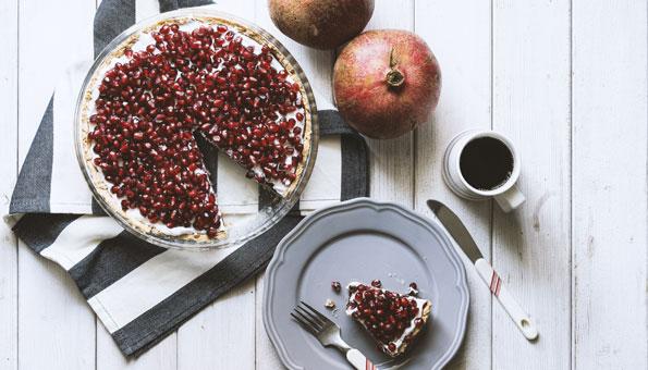 Rezept für Granatapfel-Tarte
