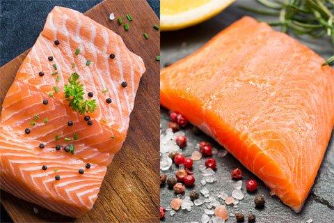 Gesunde Lebensmittel: Lachs vs. Lachsforelle
