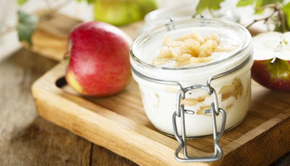 Quarkcreme mit Apfel