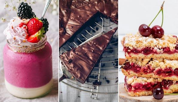 Vegane Desserts: Einfache und feine Rezepte von Vegan-Profis