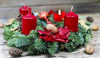 Grünes Licht für den Advent: Wie Sie den Kranz selber basteln