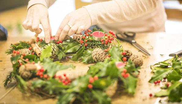 Adventskranz basteln und dekorieren