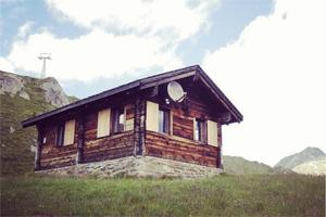 Alphütte mieten im Wallis: Das Chüestall Hüttli nahe der Aletsch Arena im Wallis.