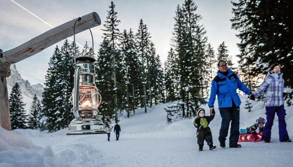 Ausflugsziele Schweiz Winter: Winterausflug zum Laternenweg Schwägalp