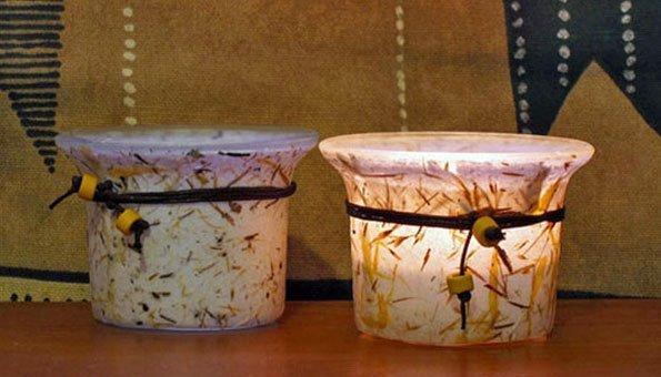 Basteln mit naturmaterialien sch ne kerzenhalter als stimmungsmacher f r tr be tage - Kerzenhalter basteln ...