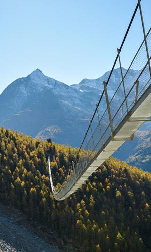 Charles-Kuonen-Brücke: Längste Hängebrücke der Welt