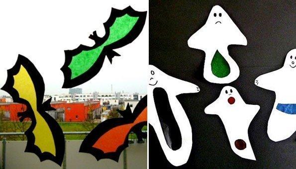 halloween basteln fensterbilder und gruselige deko f r kinder. Black Bedroom Furniture Sets. Home Design Ideas