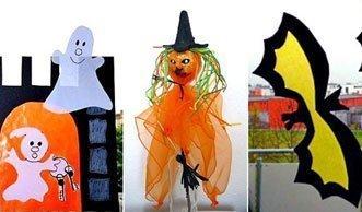 So basteln Sie für Halloween Fensterbilder und gruselige Dekos