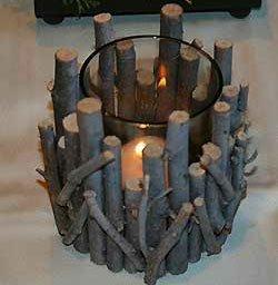 Basteln Mit Naturmaterialien: Schöne Kerzenhalter Als ... Basteln Mit Naturmaterial