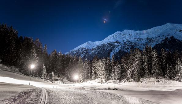 Langlauf Lenzerheide: Die schönsten Loipen der Lenzerheide - Nachtloipe