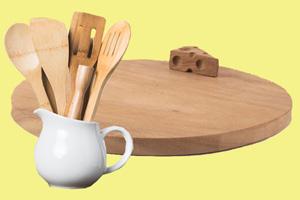 Last-Minute-Geschenke: Coole Ideen für nachhaltiges Schenken. Küchenset aus Holz.
