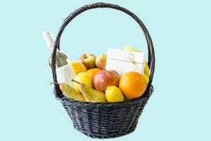 Nachhaltige Geschenke: 22 Ideen für sinnvolle Geschenke. Essenskorb zusammenstellen.