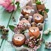 Aus Eierschalen kleine Kerzen für den Tisch basteln