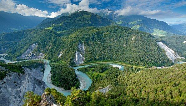 Reiseziele Schweiz: Reisen entlang dem Rhein