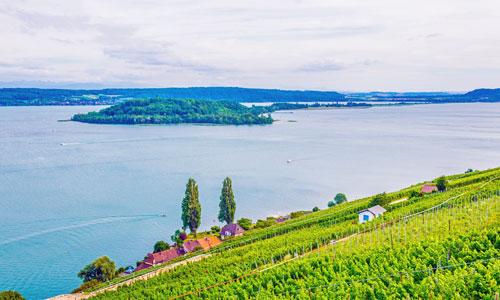 Seen Schweiz: Bielersee mit St. Petersinsel