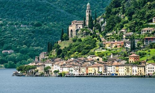 Seen Schweiz: Lago di Lugano - Luganersee