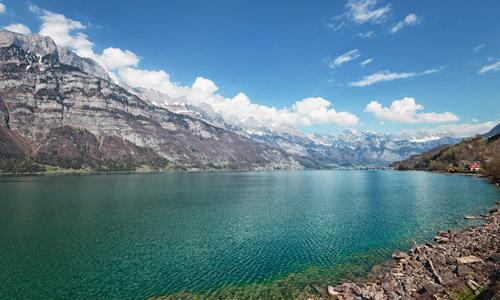 Seen Schweiz: Walensee mit Churfirsten