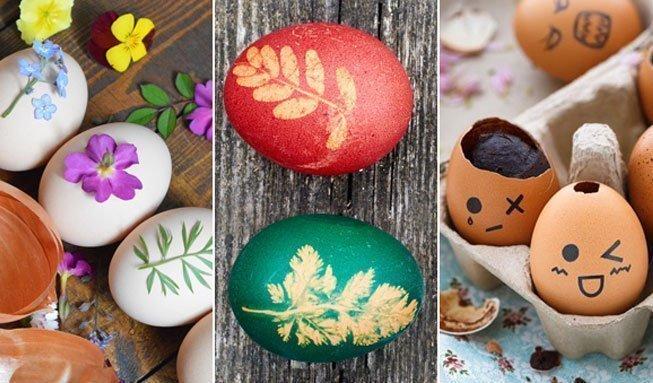 Ostereier verzieren mit Naturfarben und schönen Techniken
