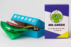 Wir verlosen 2 praktische Recycling-Abos von Mr. Green