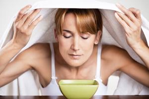 Inhalieren mit Teebaumöl