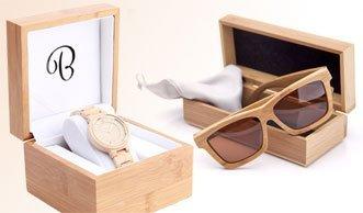 Wir verlosen eine Bambus-Sonnenbrille und eine elegante Holzuhr!