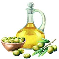 Olivenöl als natürliche Zutat für ein Peeling für Gesicht und Körper