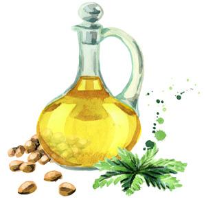 Hanföl ist eine Zutat aus der Region, die für Naturkosmetik gerne verwendet wird