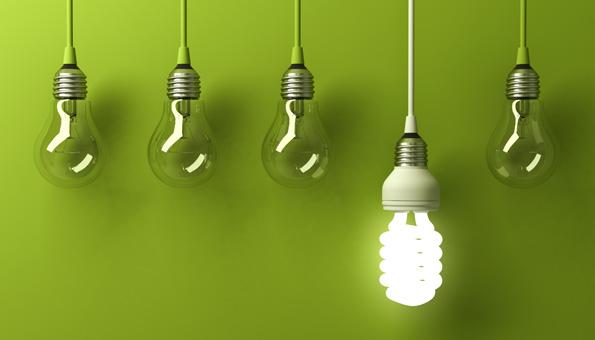 Energie sparen fängt bei der Glühbirne an