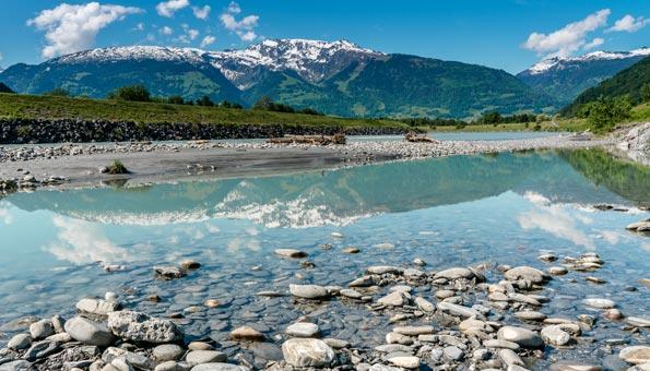 Fluss in der Schweiz.