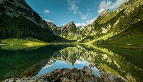 Der Seealpsee im Kanton Appenzell.