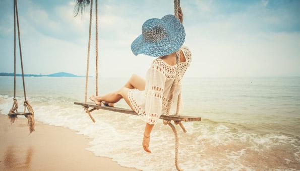 Sommerferien am Strand und das Meer geniessen