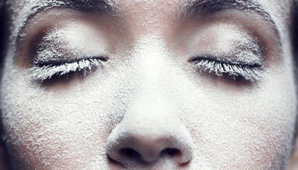 Gesicht trockene Haut