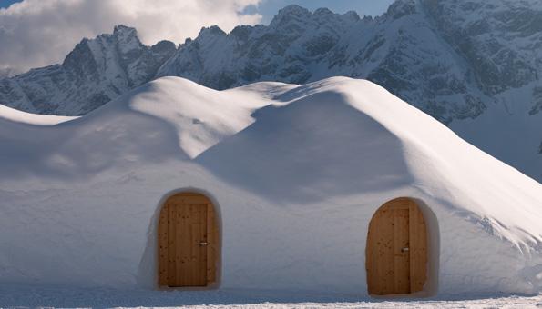 Iglu in den Winterferien für Urlaub