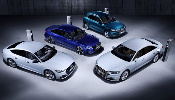 Plug-In-Modelle Q 5, A 6, A 7 Sportback und A 8 am Autosalon in Genf