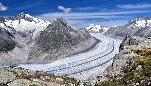 Der Klimawandel lässt auch den Aletschgletscher schmelzen
