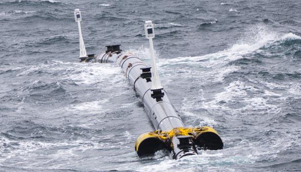 Der Prototyp von the Ocean Cleanup wurde in der Nordsee getestet
