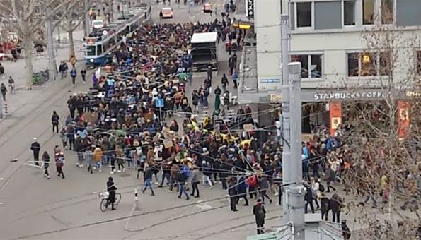 Klima Demo Zürich