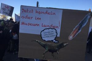 Klimastreik Schweiz: Das Plakat des 9-jährigen Gabriel hat eine klare Botschaft.