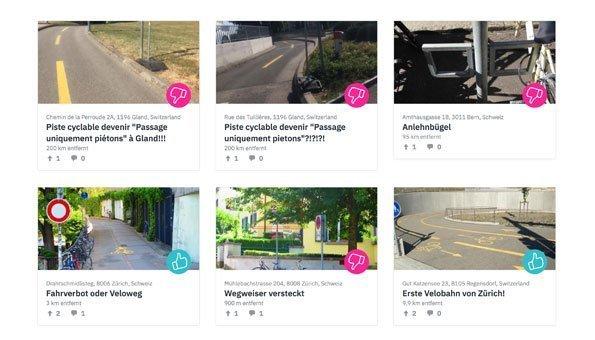 Velofahren in der Schweiz soll sicherer werden dank Meldeplattform